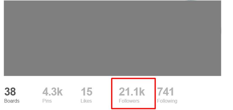 current-pinterest-followers