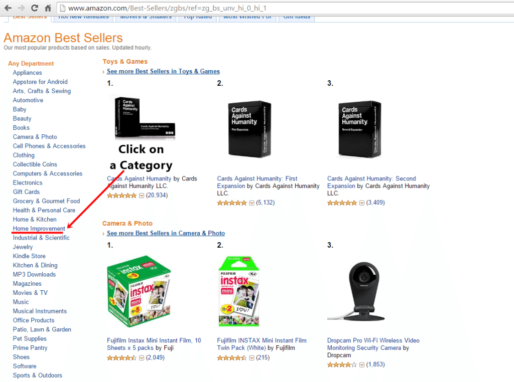 Guide how to find the best products to sell on amazon fba google planner clickcat fandeluxe Gallery