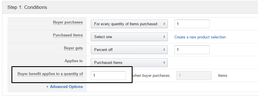How to create single use amazon coupons promo codes passion into i did some research and it looks like amazon has updated some settings that now allow you to specify how many units the code applies to fandeluxe Images